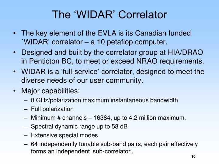 The 'WIDAR' Correlator