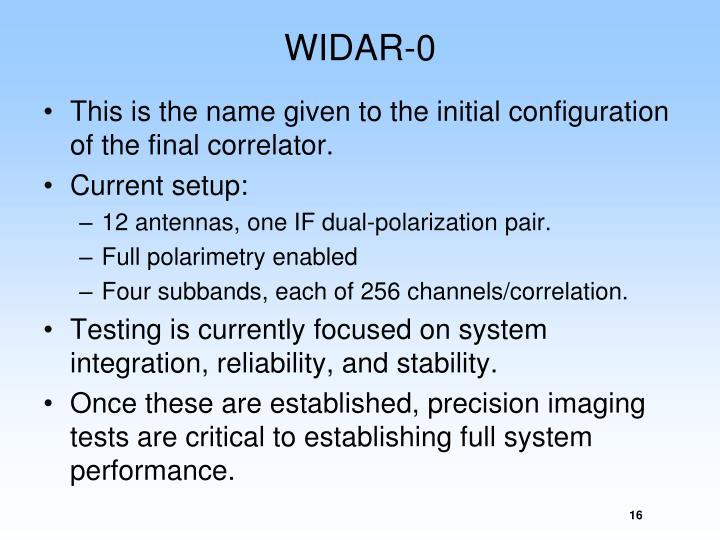 WIDAR-0