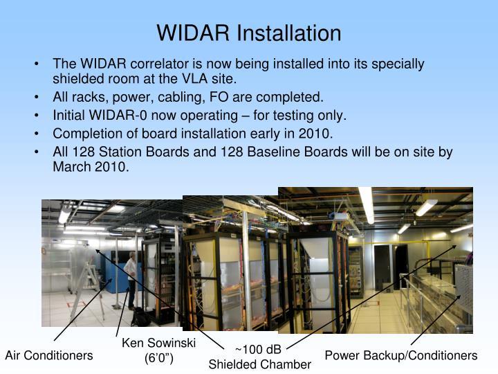 WIDAR Installation