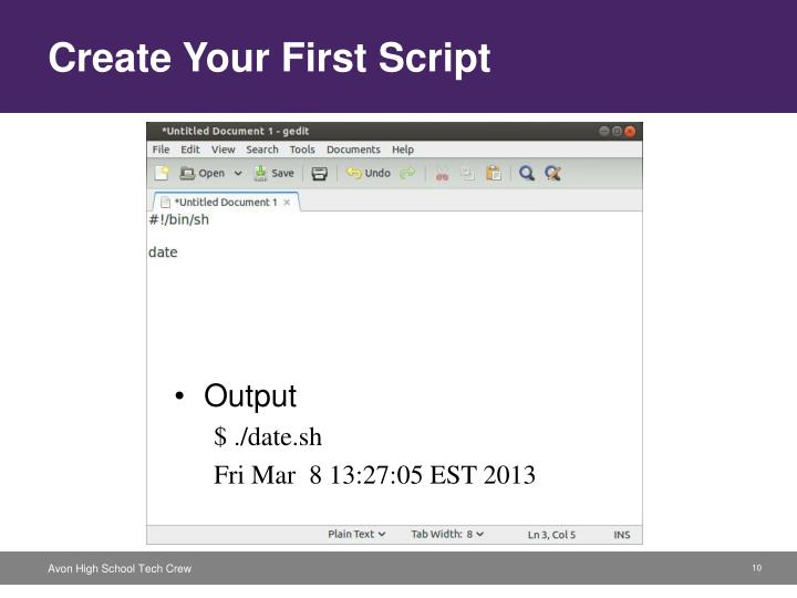 Create Your First Script