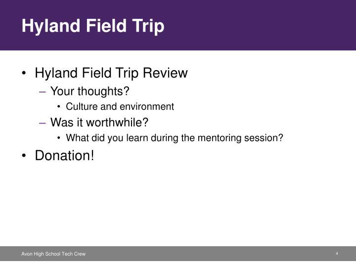 Hyland Field Trip
