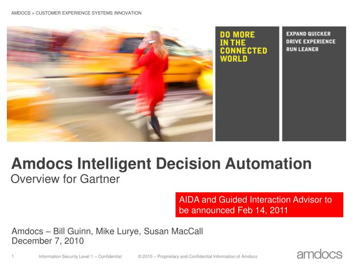 Amdocs intelligent decision automation