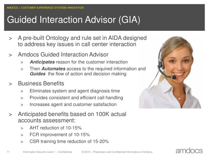A pre-built Ontology and rule set in AIDA designed  to address key issues in call center interaction