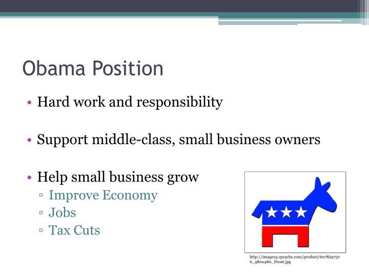 Obama Position