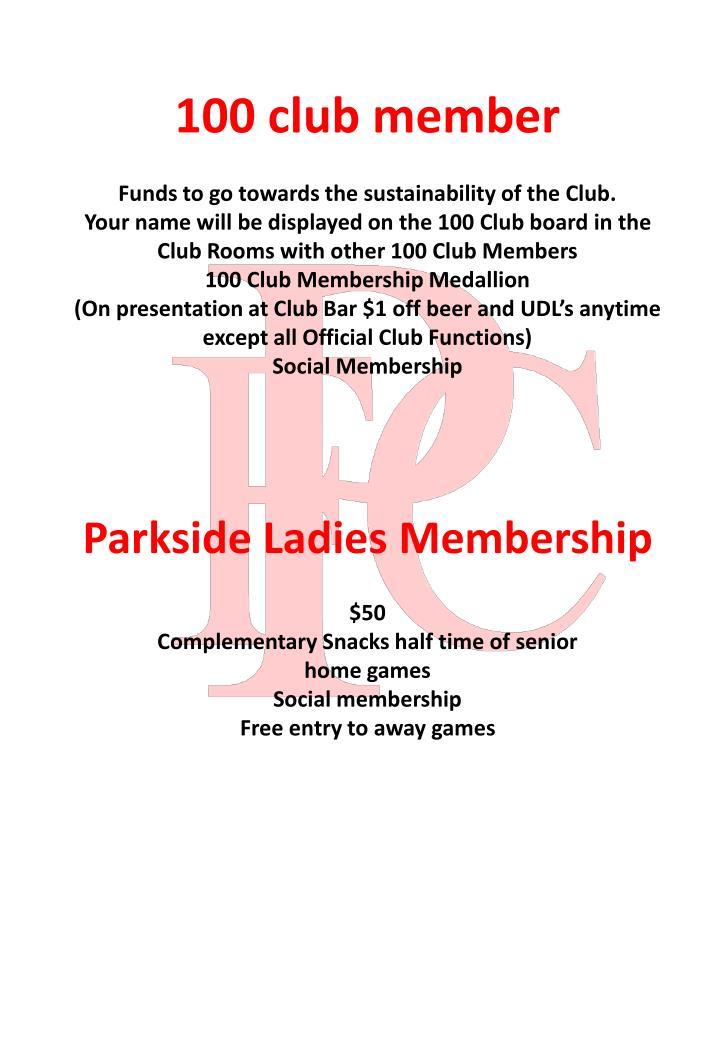 100 club member