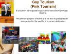 gay tourism pink tourism