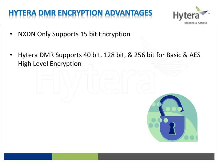 NXDN Only Supports 15 bit Encryption