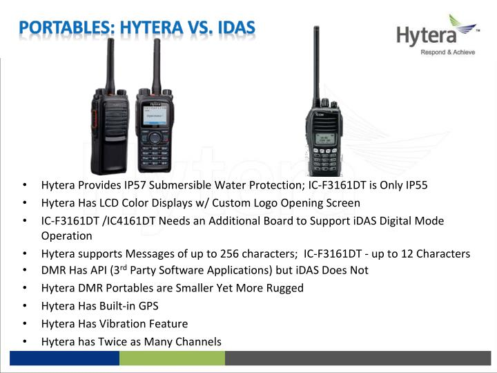 Portables: Hytera vs. iDAS
