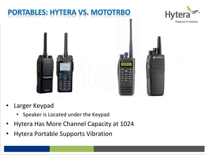 Portables: Hytera vs. MotoTrbo
