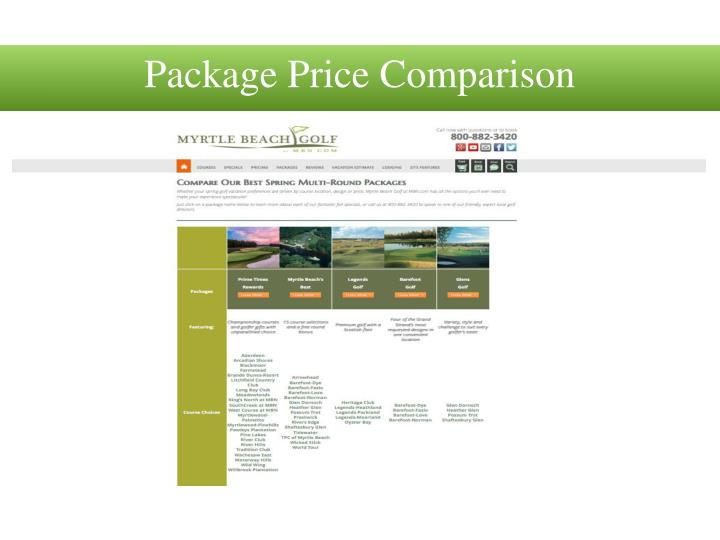 Package Price Comparison