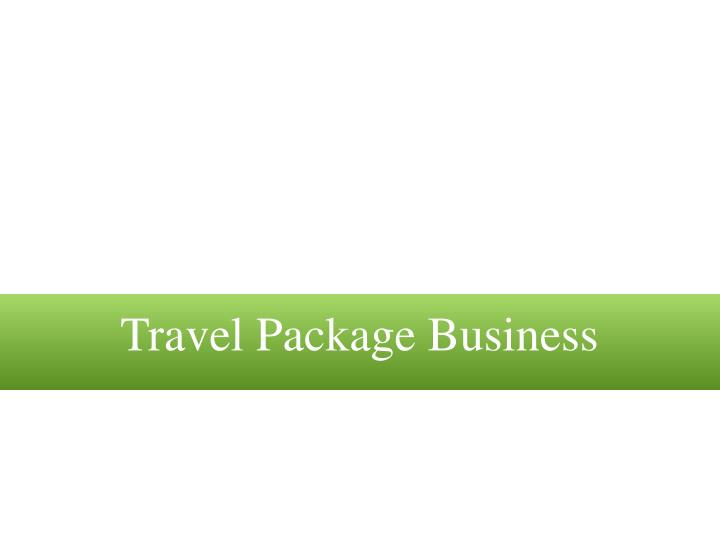 Travel Package Business