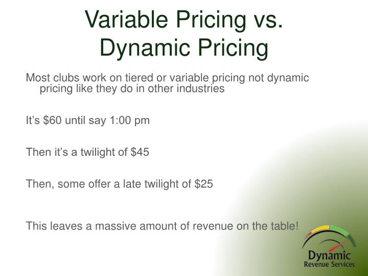 Variable Pricing vs.