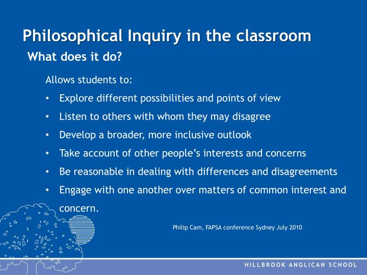 philosophical inquiry To view study questions about the readings, urls to web sites on studying philosophy, a table of contents with links to additional relevant material, and.