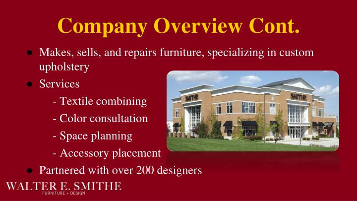 Company Overview Cont.