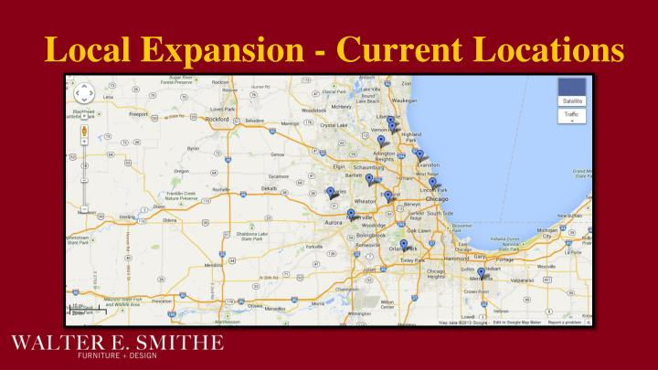 Local Expansion - Current Locations
