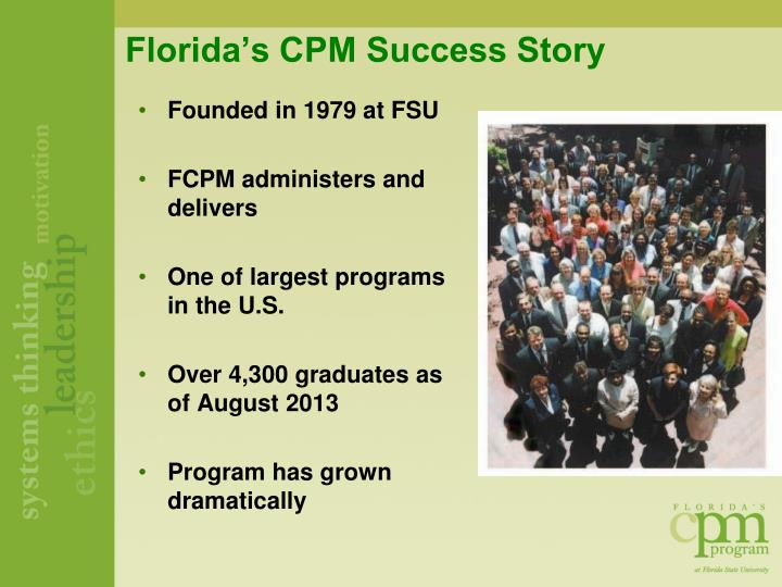 Florida's CPM Success Story