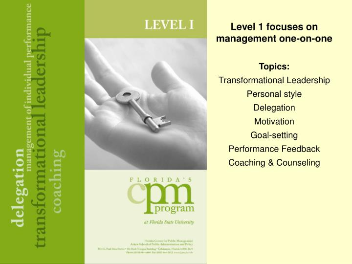 Level 1 focuses on