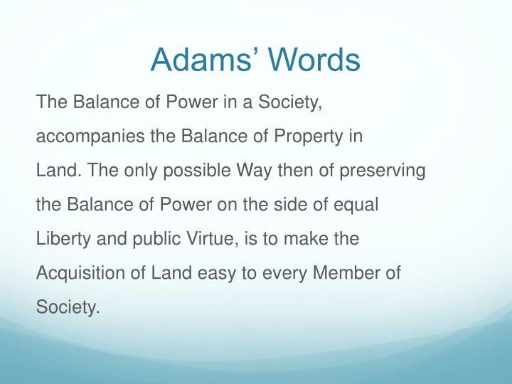 Adams' Words