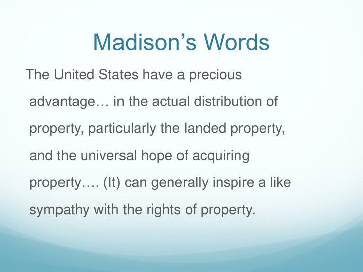 Madison's Words
