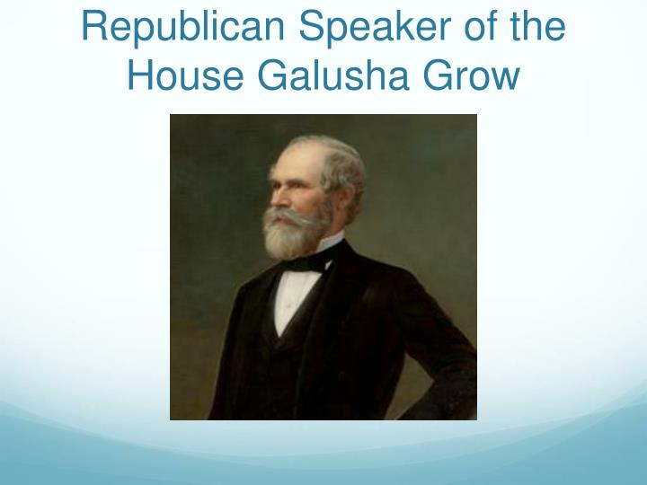 Republican Speaker of the House