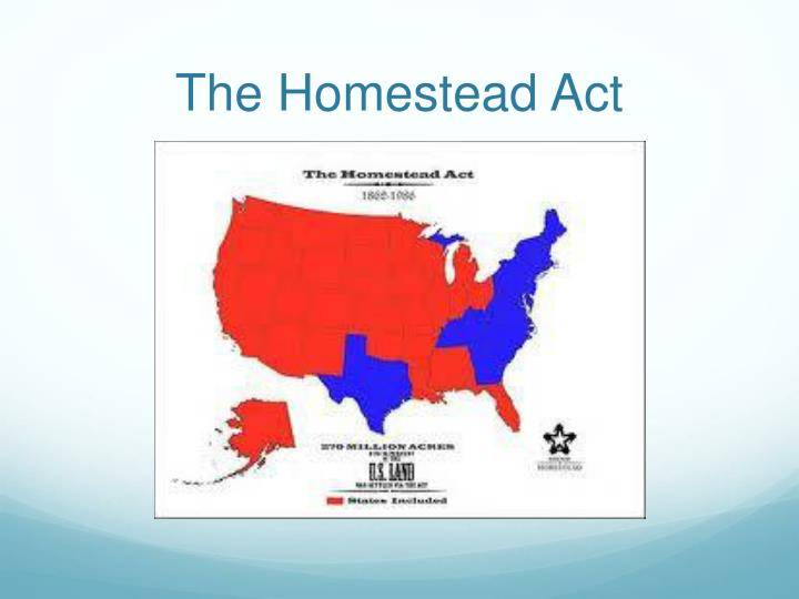 The Homestead Act