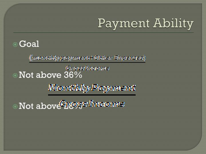 Payment Ability