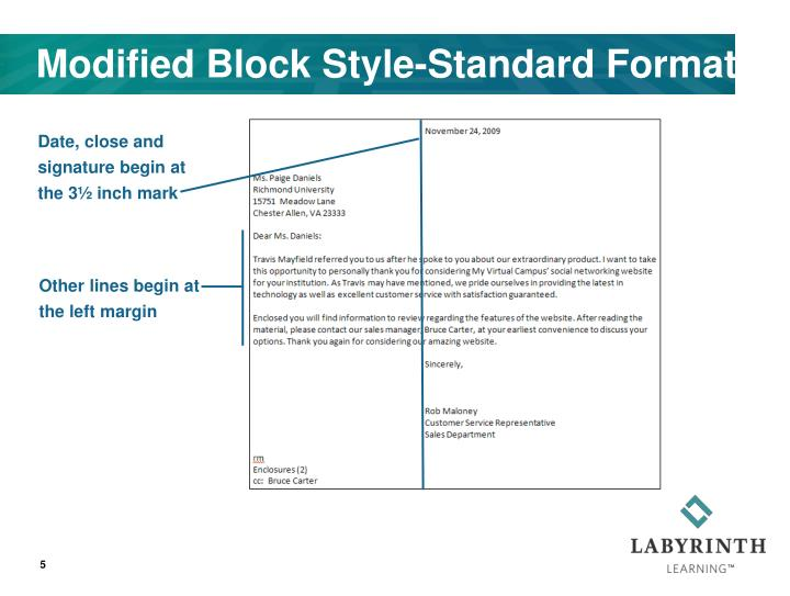 Modified Block Style-Standard Format
