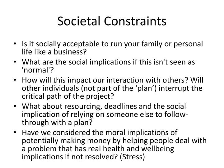 Societal Constraints