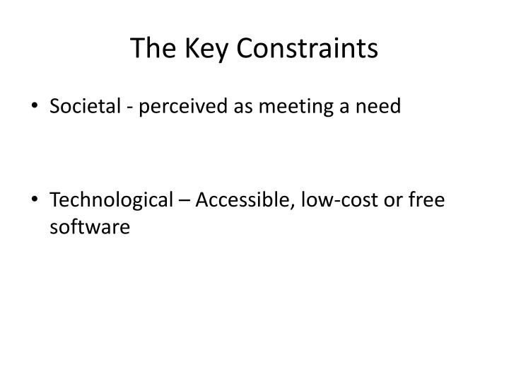 The Key Constraints