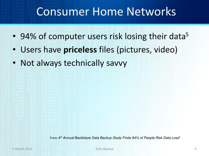 Consumer Home Networks