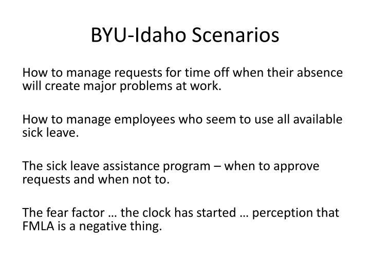BYU-Idaho Scenarios