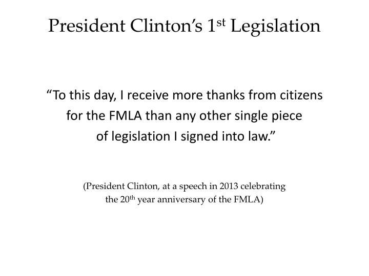 President Clinton's 1