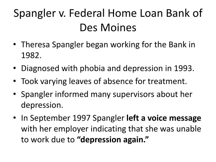 Spangler v. Federal Home Loan Bank of Des Moines