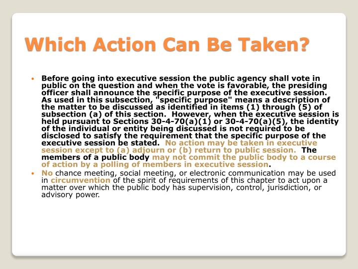 Which Action Can Be Taken?
