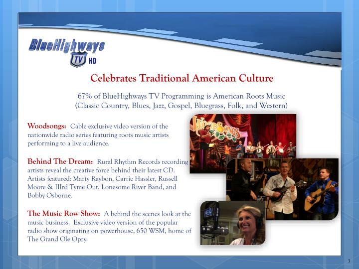 Celebrates traditional american culture