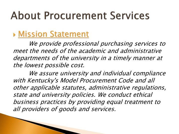 About Procurement Services