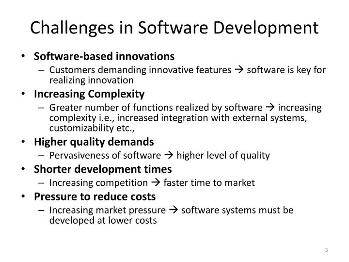 Challenges in software development