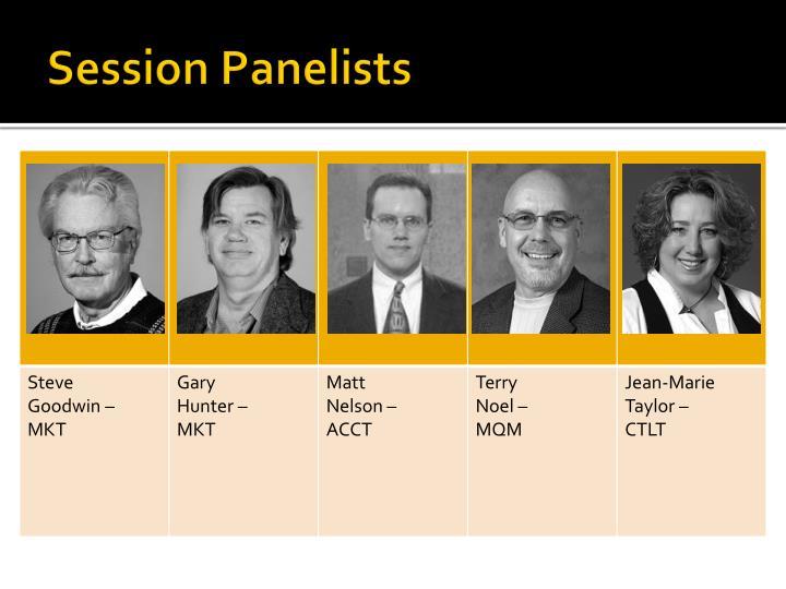 Session Panelists
