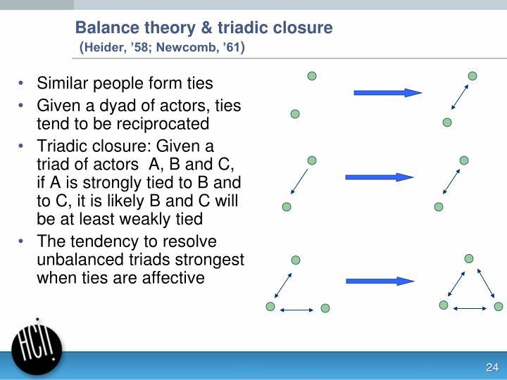 Balance theory & triadic closure