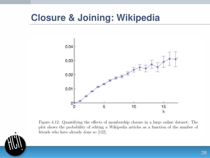 Closure & Joining: Wikipedia