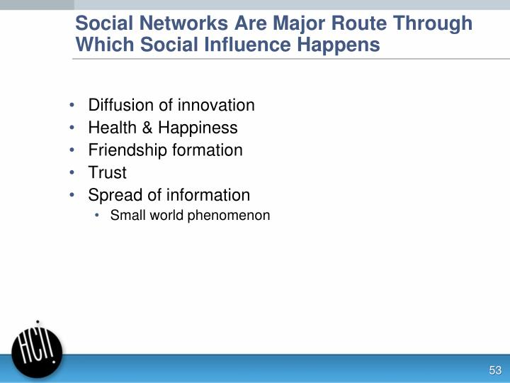Social Networks Are Major Route Through Which Social Influence Happens