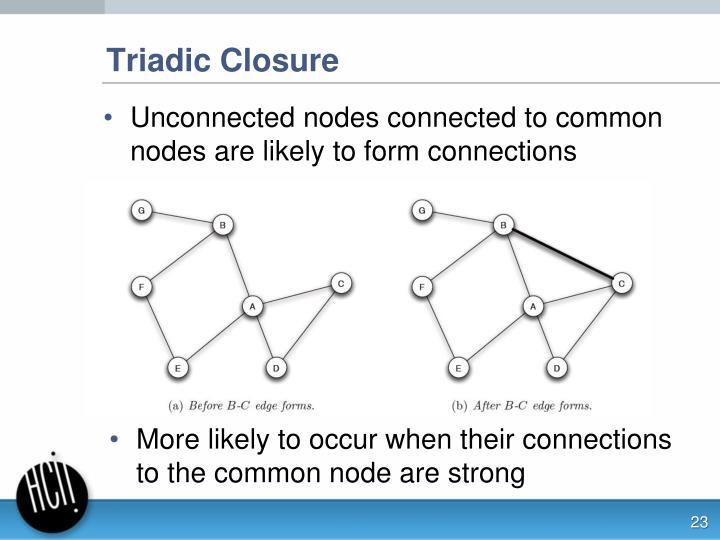 Triadic Closure