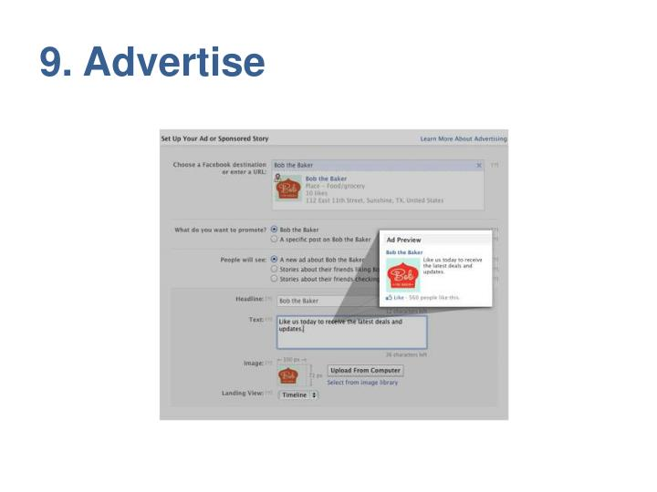 9. Advertise