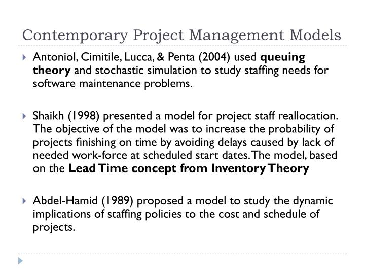 Contemporary Project Management Models