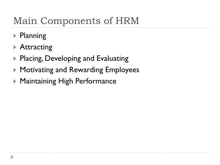 Main Components of HRM