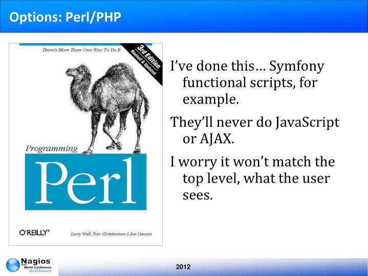 Options: Perl/PHP