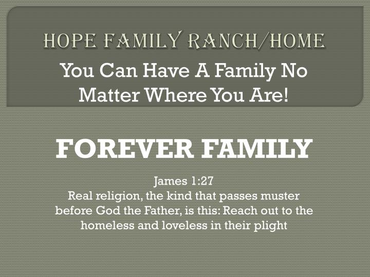 Hope family ranch home