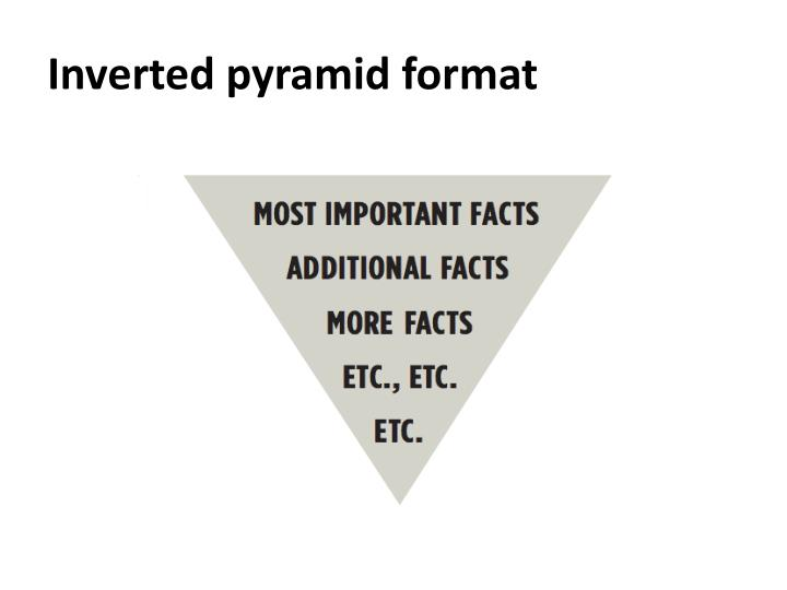 Inverted pyramid format