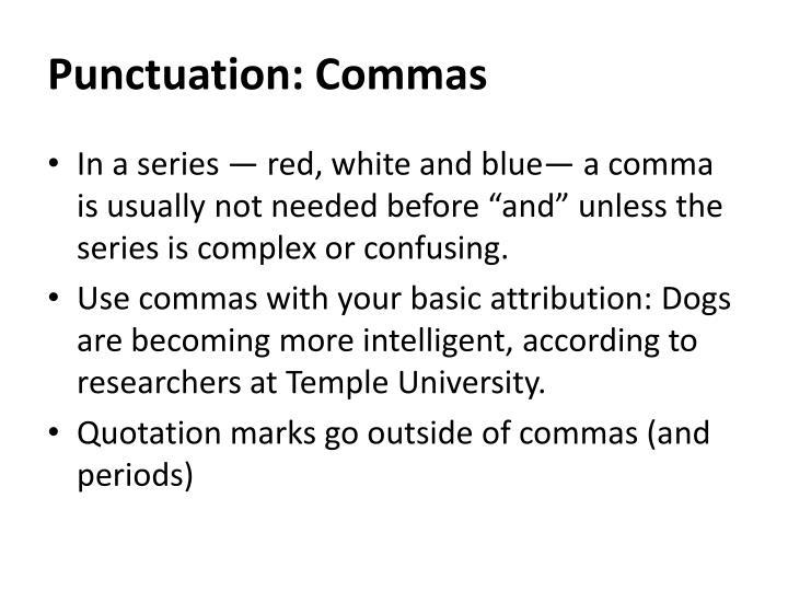 Punctuation: Commas