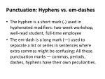punctuation hyphens vs em dashes